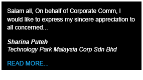 Technology Park Malaysia Testimony - Define International - Event Management Company in Malaysia