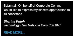 Technology Park Malaysia Testimony - Define International - Event Management Company in Malaysia